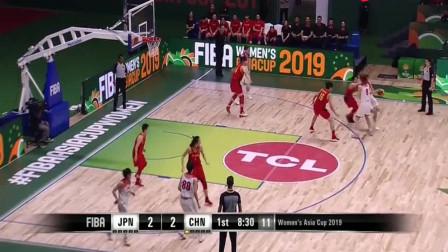 直播回放:亚洲杯决赛 中国女篮VS日本 邵婷再现梦幻脚步潇洒上篮
