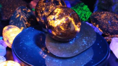 国外发现神奇石头,被紫外线一照便会闪闪发亮,捡到一颗便赚到了