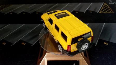 汽车玩具模型 悍马H3 彩珀合金车模