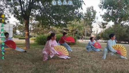 今天是你的生日,我的中国!滨海拳友演练杨氏36式太极扇!