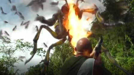 丛林里出现巨型杀人蜂,还会喷射火焰,人类不断被袭击!