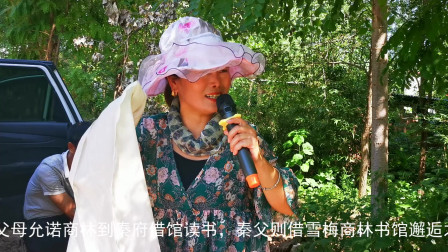 农村办事,漂亮大姐演唱戏曲《哭灵》唱的生动感人,听哭了!
