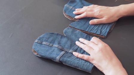 家里有加绒裤吗?裤口剪下来缝上螺纹口,秋冬人人都需要
