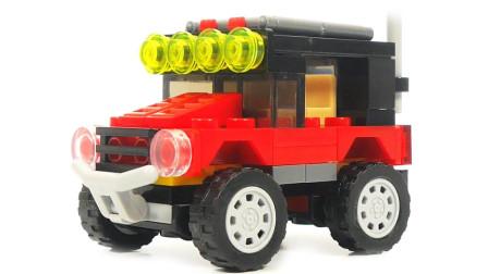 超大轮子的积木越野车