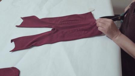 有不穿的打底裤吗?裤子剪几刀做成2件东西,秋冬人人都需要