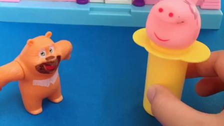 亲子小游戏:公主被施了魔法变成了猪头,佩奇帮助