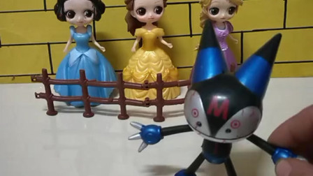 育儿亲子游戏玩具:机器猫要把公主们煮了吃