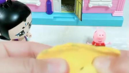 亲子小游戏:七娃给佩琪送年夜饺子,理由是不答应她做女