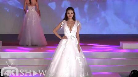 圣洁的白色长裙,薄纱和刺绣的点缀,很加分