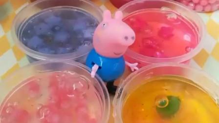 少儿益智亲子玩具:小猪乔治趁着姐姐不在家,偷完姐姐的水晶泥,小朋友你们会告诉佩奇吗?