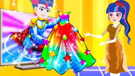 穷小子阿坤想买漂亮的裙子给紫悦,可是裙子太贵了怎么办?小马国女孩游戏