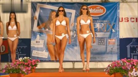 乌克兰世界小姐比基尼选美大赛,精致靓丽的超模,气质不俗