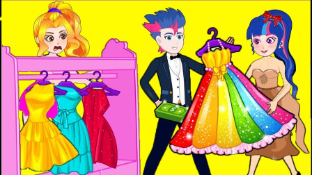 紫悦被碧琪嘲笑穿着破旧,小紫悦缝了一件非常漂亮的裙子给紫悦,惊呆了碧琪 小马国女孩游戏