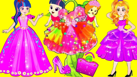 紫悦和烁烁在试衣服,她们会找到自己喜欢的衣服吗?小马国女孩游戏
