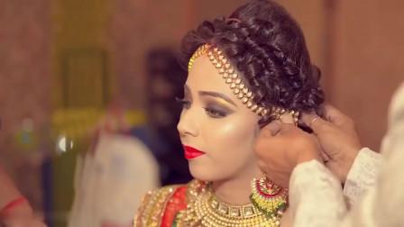 时尚美妆:印度华丽新娘妆,从妆容到服饰再到发型首饰