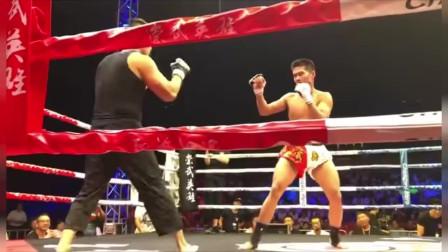 咏春大师丁浩再度被KO,被高扫倒地短暂休克