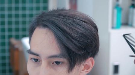 小伙脸型立体偏瘦 这款发型 爱的人会说真帅 不爱的人会说不好看