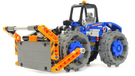 收割机和铲车,消防车积木拼装