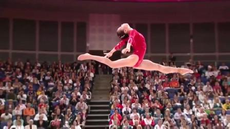 女子体操:她的平衡木,慢镜头下欣赏真是太美了!