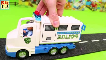 儿童小拖车在救助小汽车,超多小汽车玩具