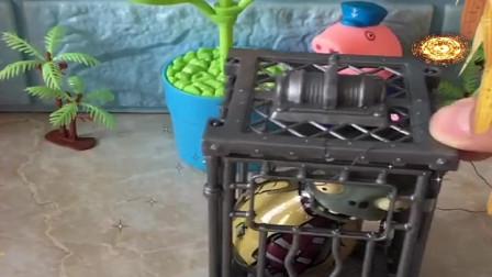 益智少儿亲子玩具:猪爷爷抓住一个偷玉米吃的僵尸