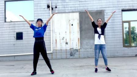 健身跳广场舞《山河美》好看又好跳,一天比一天瘦了