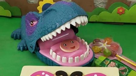 小动物拿糖果交换自己的身体,小蝴蝶没有糖果,小朋友帮小蝴蝶助力哦