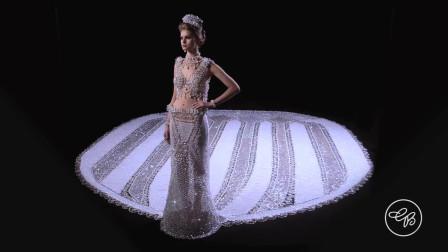 世界上最大的釘珠婚紗裙