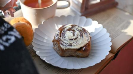 超详细步骤教你制作秋季最经典的甜品-黑麦粉肉桂卷