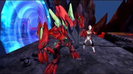 格斗奥特曼:传奇英雄,贝利亚和骷髅哥莫拉的PK