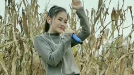 美女玉米地里,一首《你是我的人》,太好听了!
