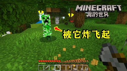 我的世界02:伐木开荒,准备修一个农场!中途遇到爆炸僵尸!