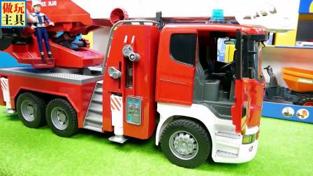 很英勇的消防车,特别棒的拖拉机
