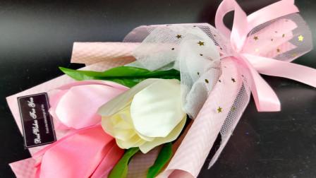 郁金香学会了,那么就开始包装它吧,来个小郁金香花束的包装