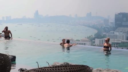 芭提雅最高的露天无边大泳池,一晚仅需700元,一生必去一次