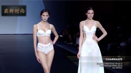纽约经典内衣展,白色的薄纱蕾丝,魅力十足