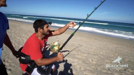 大竿粗线配强力渔轮,暴力遛大鱼,一般钓鱼人玩不来!