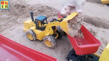 超帅的推土机玩具,很逼真的儿童工程车玩具