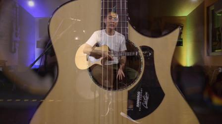 詹尼吉他M33孔雀开屏评测介绍试听 蔡宁 靠谱吉他乐器