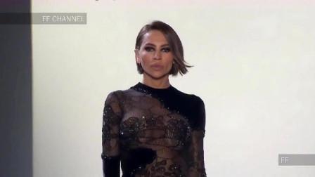 单薄轻盈的黑色礼服,细致精美的纹路,优雅迷人!