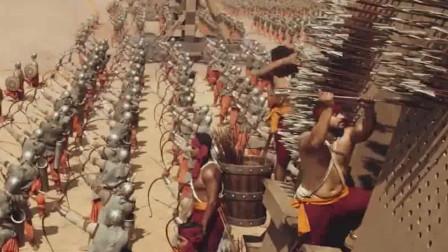 两军交战时,天空飞出巨大红布,当士兵们反应过来已经晚了