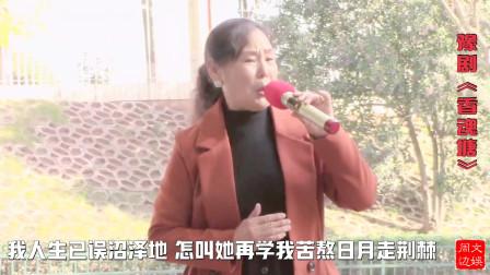 戏迷王鲜英老师表演豫剧《香魂堂》选段:送环环自由身另选佳婿