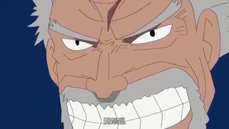 海贼王:卡普这力量太恐怖了,要不是跑得快,阳光号都要被他砸沉了