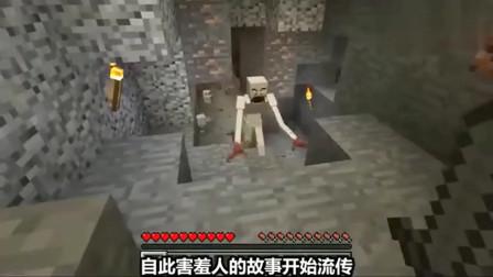 我的世界:玩家偶遇害羞人,没想到这家伙居然会穿墙!