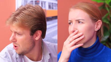老外恶搞闺蜜:在口腔清新剂里加蒜汁,使其在男神面前出囧态百出!