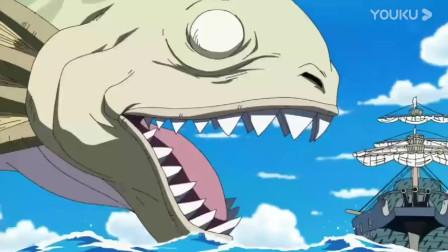 海贼王:海王类想一口吞掉海军军舰,可惜军舰上有个剑术高手