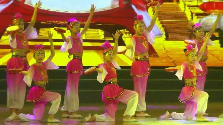 少儿舞蹈《舞起幸福鼓》,舞蹈与鼓声悠扬呼应尽显民族风格