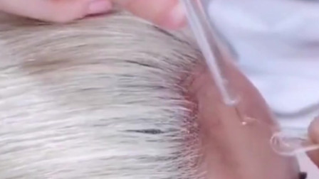 原来假发都是这么做的,怪不得可以以假乱真,一针直接就勾下去了!