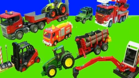 婴幼儿益智玩具车 汽车工程车挖掘机拖拉机模拟工作