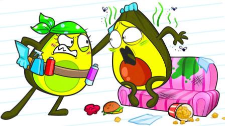 牛油果先生偷吃零食,不料被女友当场抓包?牛油果实惨啊!